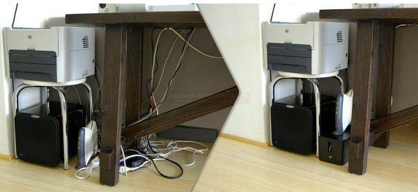 Amenager un espace bureau - la connectique